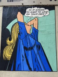 Street graffiti in Melbourne celebrating living alone #over50 #livingsolo @boneAndsilver
