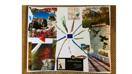 Magazine collage for creativity