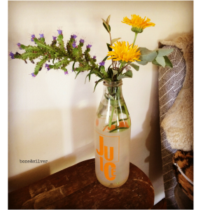 A jar of native Australian flowers hand picked and arranged #nativeflowers #Australia #over50 #love #gesture