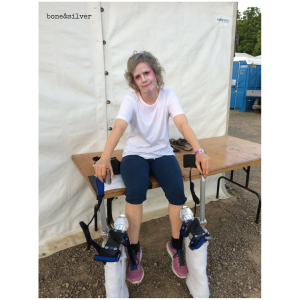 Sweaty but grateful for my performing life on stilts over 50 in Australia at Woodford Folk Festival