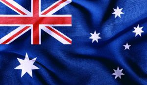 An Australian flag, representing ties with England