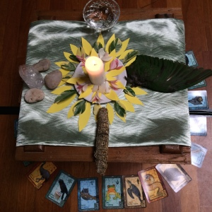 The four elements come together in the centre of the sacred circle