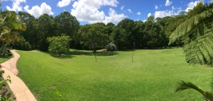 Pano view from the verandah #Australia #rainforest #ecovillage #over50