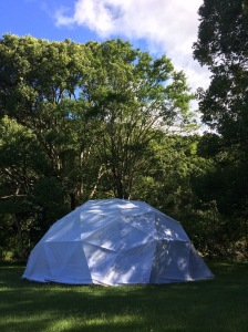 Permaculture principles for slow living, wellbeing, and selfcare over 50 in a Geodesic dome