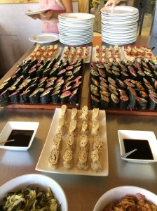 Sushi for a healthy lunch, handmade, full of nutrition and care