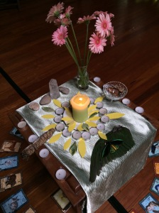 Altar to a new way of learning and living, with wellbeing and the environment paramount