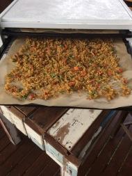 Half-dehydrated Rice and veggies #organic #selfcare #over50 #hikingfood