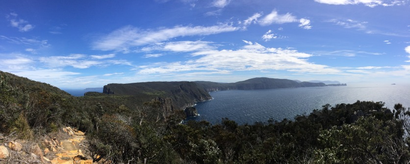 Cliffs in Tasmania for mindful wellbeing over 50