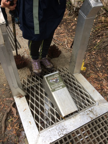 Keep out the mould #bootcleaning #biodiversity #nationalpark #hikingprotocols