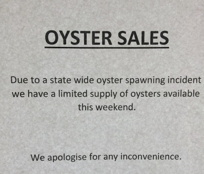 I've never liked oysters, they're not good for my wellbeing
