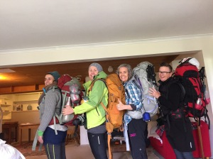 Four women over 50 get ready for a backpacking and hiking adventure in Tasmania