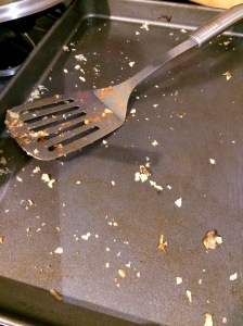 An empty dish is a sign of a good meal