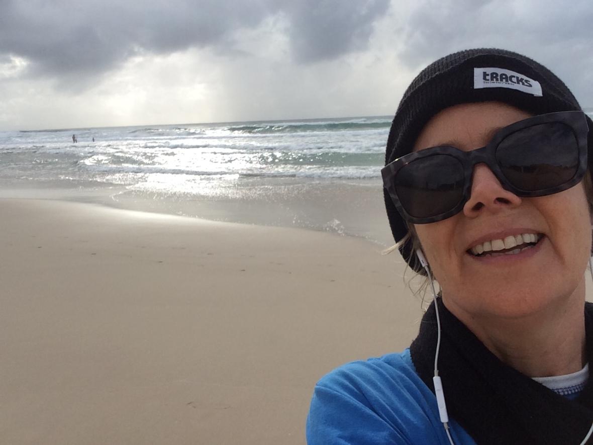 Cardio fitness the fun way on the beach over 50