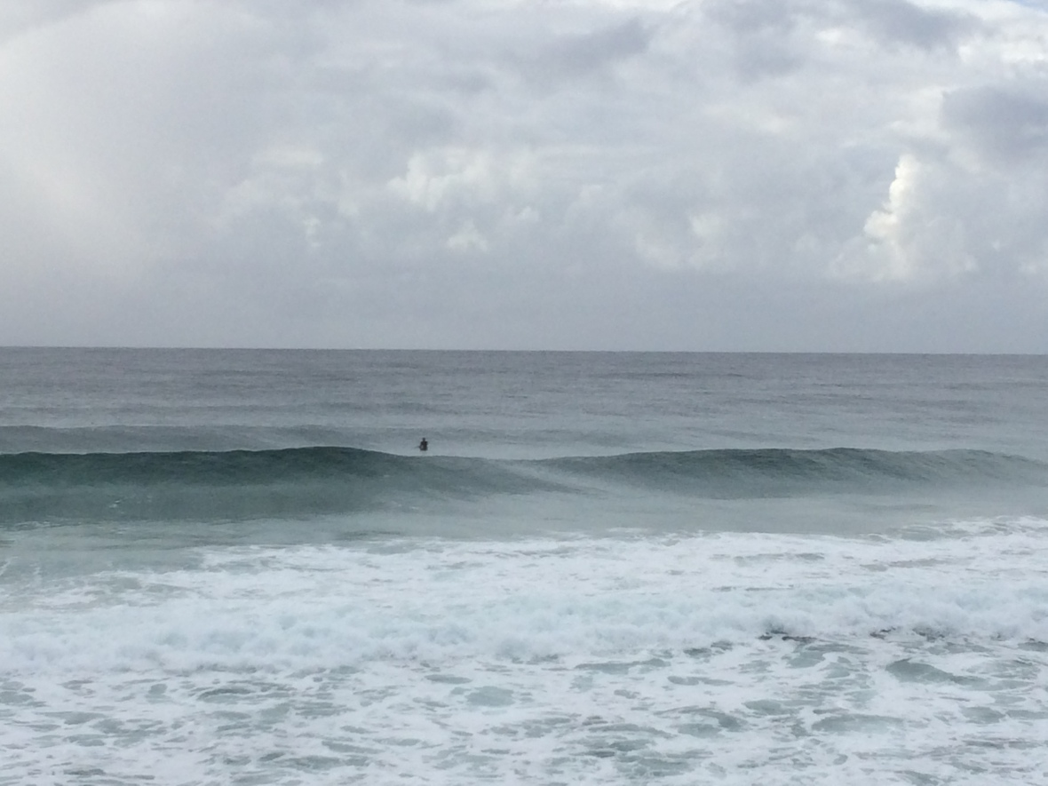 Watching the surfers and Cardio fitness the fun way on the beach over 50