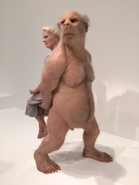Grateful for Piccinini's wax sculptures in Brisbane at GOMA for art appreciation for wellbeing over 50