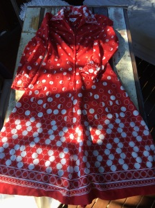 Nothing like a red 70s dress in Australia