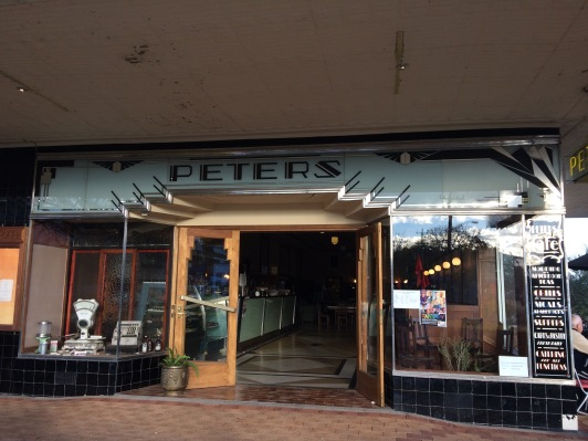 So grateful to find an art deco cafe on the road in Australia