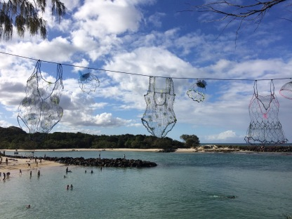 The wire swimming costumes were my fav #sculpture #Australia #art #creativity
