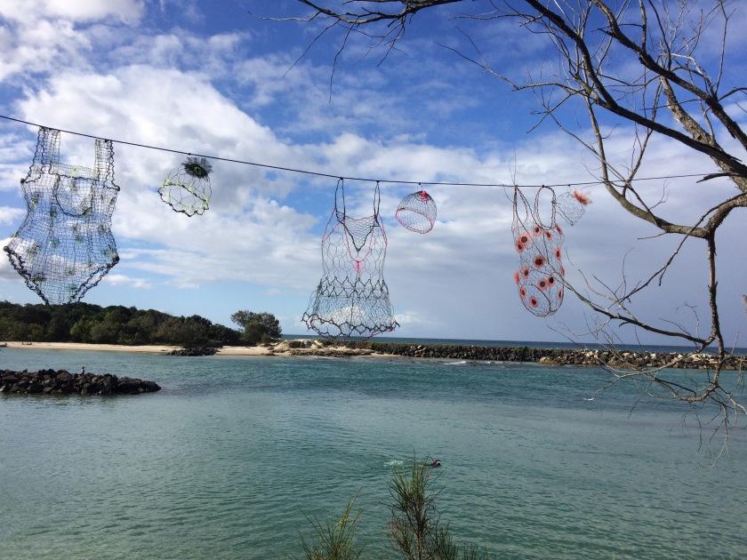 The wire swimming costumes were my fav #sculpture #Australia #art #creativity