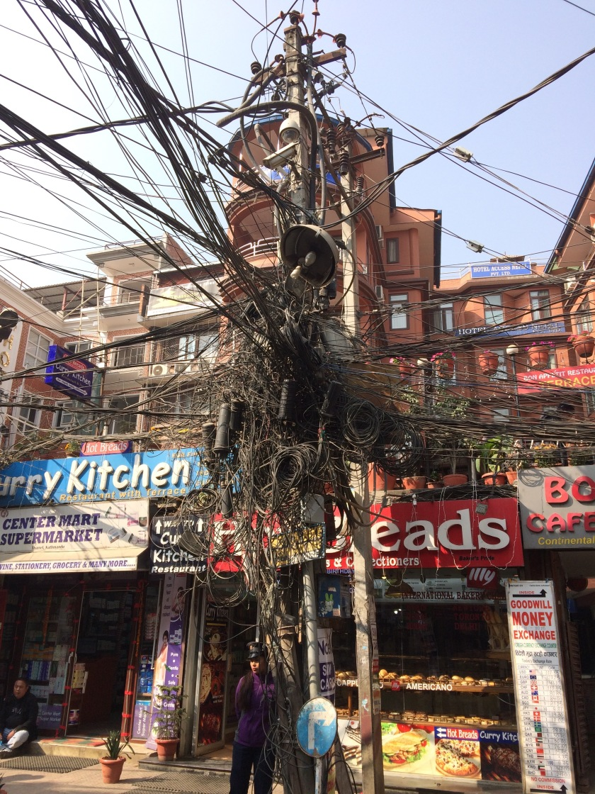 How can they possibly function? #Nepal #Kathmandu #powerpole #trust