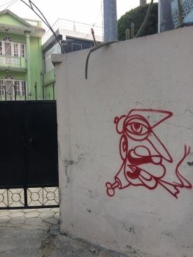 #Kathmandu #graffiti #streetart #city @boneAndsilver