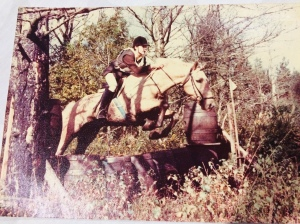 Me as a teenager cross country jumping