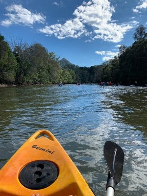 Not a bad view, and that's my local mountain #Australia #river #kayak #gratitude